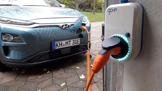 go-eCharger an 16 Ampere für Hyundai Kona electric