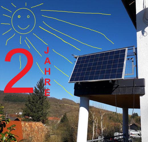 Leben mit der Energiewende TV - Balkonmodul zwei Jahre in Betrieb
