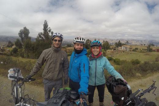 Selfie avec Lelio tour à vélo dans la vallée sacrée