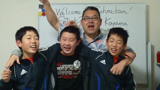 ハワイから来た(?)Satoaki Bobby Koyama先生と。:)