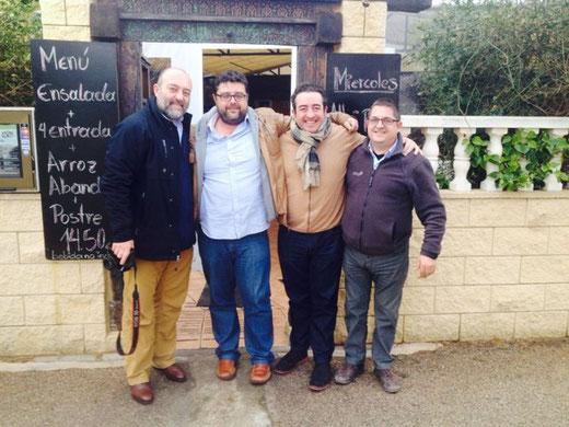 Bati Bordes junto a Pepe Mendoza, Juan Torres y Vicente Crow