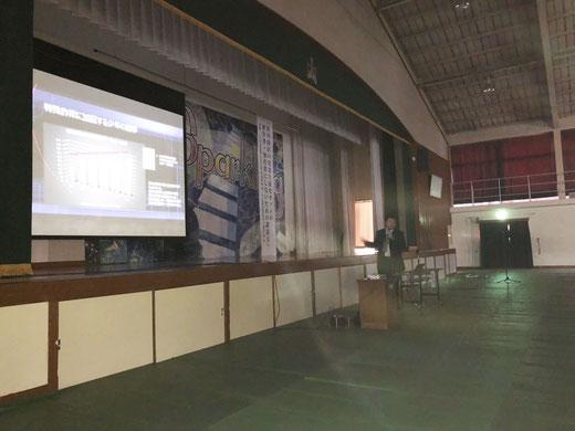 パソコン教室スタディPCネット大分高城校の代表が11月17日に原川中学校にて講話に登壇!