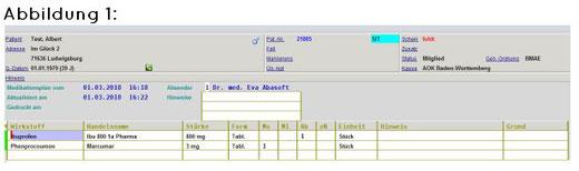 abasoft EVA Praxissoftware Arztsoftware Medikamentendatenbank Datenbank Medikamente
