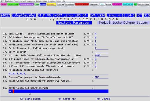 Textgruppen Schreibschutz PVS Praxisverwaltungssoftware Arztsoftware  Schutz Privatsphäre Arztpraxis