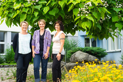 Co-Präsidium für das Schuljahr 2018/19: Sandra Le Goaziou, Karin Costa und Caroline Stöckli
