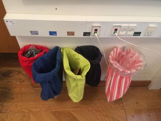 Affaldssorteringssystem Flower til køkken eller kontor brug