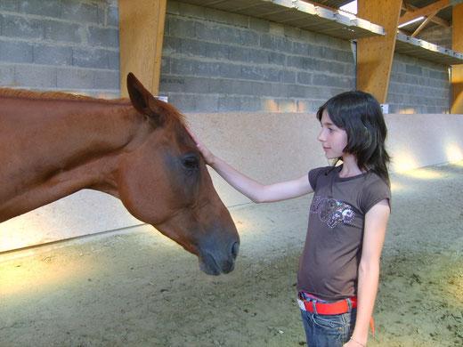 Je n'ai jamais eu un tel rapport de confiance avec le cheval.