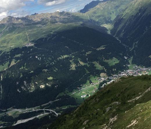 vom Gotschnagrat auf S2-Trail hinunter nach Klosters, Freeride-Piste Klosters, Gotschnagrat-Trail
