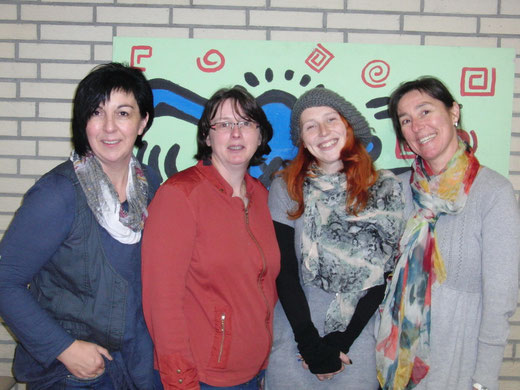 Das Betreuungsteam: Marianne Bläsing, Christiane Risse, Melanie Lackmann (inzwischen ausgeschieden), Sonja Pape