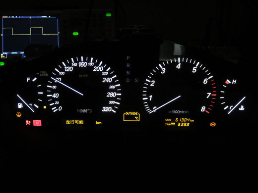 トヨタ セルシオ 30 TOM'S メーター修理