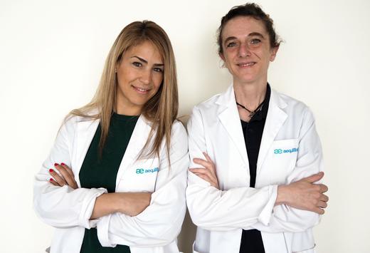 Ana Cantos y Sara, nutricionista y psicóloga de Aequilibrium Torrelodones