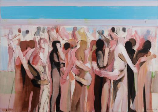 Michael Hedwig, Transit, 2015, Acryl auf Leinwand, 90x140cm