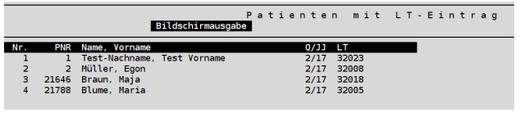 Patientenliste abasoft Praxissoftware Arztsoftware Software für Ärzte Praxis Arztpraxis Videosprechstunde