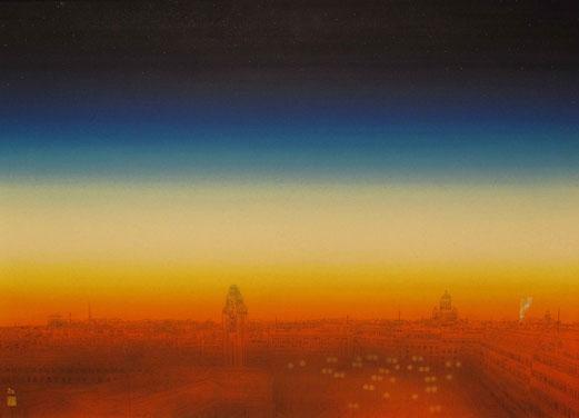 「SUNRISE COLORS ~ヘルシンキステーション~」 P20号 ¥600,000