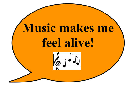 music makes me feel alive
