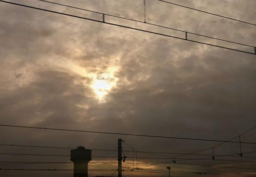20. Februar 2018 - Verhangener Himmel