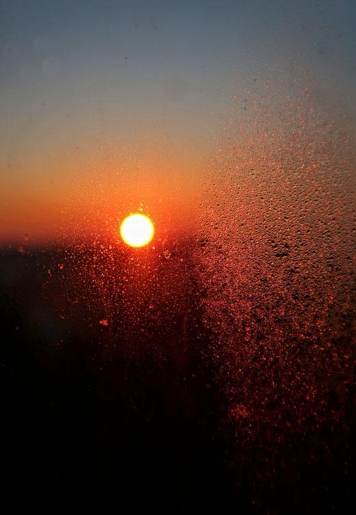 28. Februar 2018 - Sonnenaufgang in klirrender Kälte
