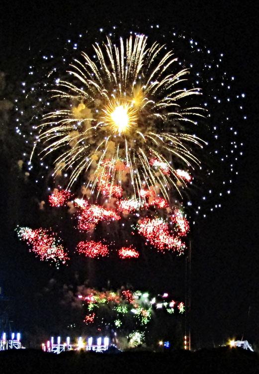 15. Juli 2018 - Stolz in der Nacht. Frankreich feiert.