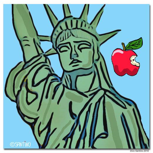 #liberty #statue #manhattan #2018 #usa #newyork #nyc #newyorkcity #divosantino #artwork #painter #bigappel #kunstdruck #amrica