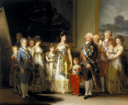 《カルロス4世とその家族》1800-1801年