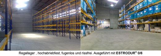 Industrieboden Estrodur Hochregallager