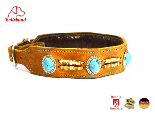 Halsband aus Fettleder handgefertigt, Bolleband