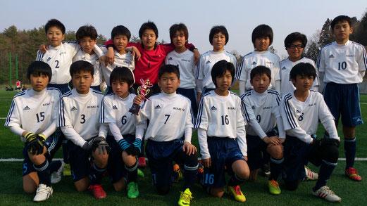 尾西FCとして最後の試合。全員で一生懸命、戦いました。6年生、お疲れ様でした。