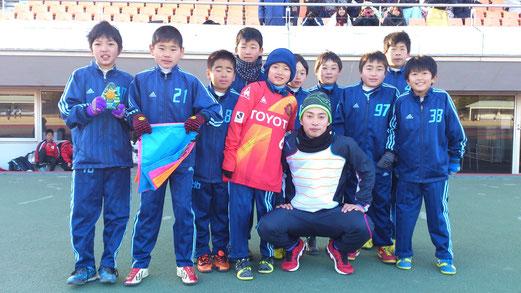 阿部翔平選手(元グランパス)と記念写真。ヴァンフォーレ甲府での活躍を応援しています。