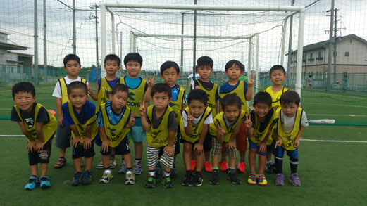 初めての対外試合の子も多かったけど、楽しめたかな? みんないい笑顔だったよ。