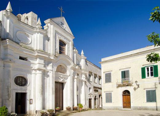 Anacapri - Facciata della chiesa dell'ex monastero