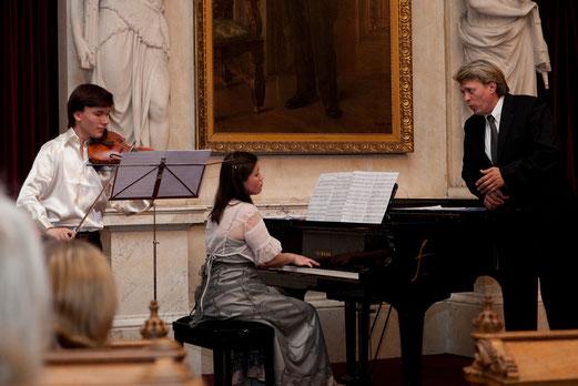 Yury  Revich, Kamila Isambaeva, Oper Sänger Evgeny Dmitriev.