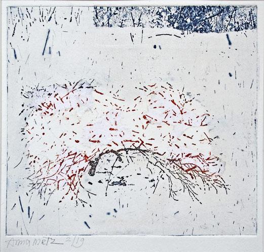 Sneeuwboompje 2/19, Anna Metz / Ets, gemenged druk techniek / Price on request