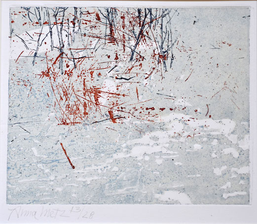 Dooi II 12/28, Anna Metz / Ets, gemenged druk techniek / Sold  (private collection in the Netherlands )