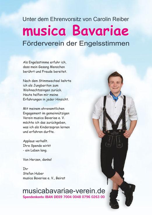 ... und 2018 als Botschafter des Fördervereins musica Bavariae e. V.