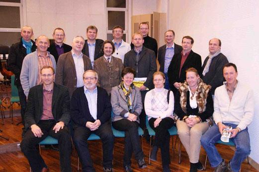 Regionalsprecherin Dir. Adelheid Wannemacher mit ihren Stellvertretern und den Weinviertler Musikschulleitern
