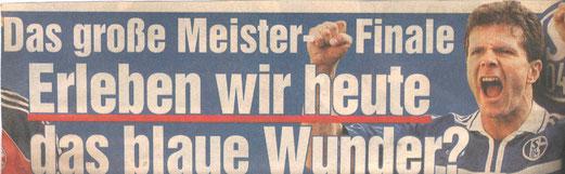 Zeitungsausschnitt (vor dem Spiel)