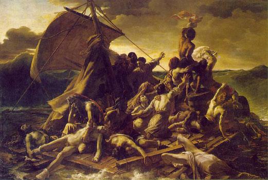 Le Radeau de la Méduse, Théodore Géricault, 1819, Huile sur toile, 491X716cm, Musée du Louvre, Paris.