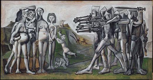 Massacre en Corée, huile sur contreplaqué,  110x210 cm, 1951,  Picasso Pablo,  (1881-1973)  Paris, musée Picasso.