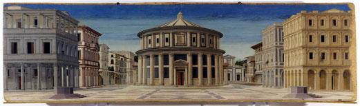 La cité idéale est une peinture à tempera sur toile de 67,5 × 239,5 cm datable entre 1480 et 1490 d'un auteur inconnu qu'on a longtemps cru être Piero della Francesca puis Luciano Laurana, Francesco di Giorgio Martini ou Melozzo de Forlì .