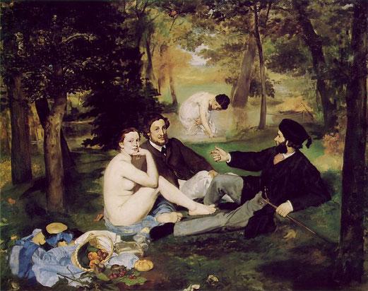 Le Déjeûner sur l'herbe peint en 1963 par Edouard Manet.