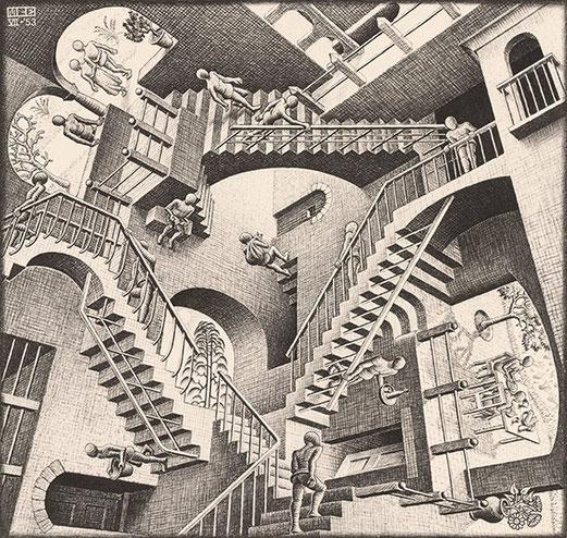Relativité,  1953, Lithographie. 294mm x 282mm.