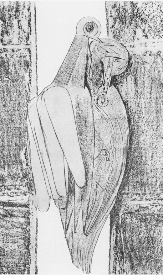 Max Ernst, Les Diamants conjugaux, Histoire naturelle, frottage, 1926.