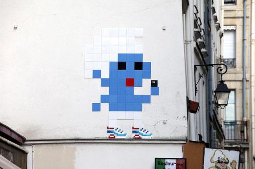 Un exemple parmi tant d'autres dans le quartier des Halles à Paris.