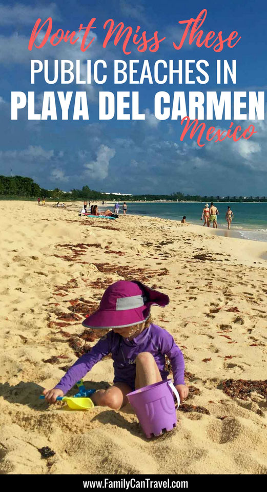 Don't miss these family friendly beaches in Playa del Carmen, Mexico! Click to read more at FamilyCanTravel.com | Family Travel | Travel with kids | Mexico with kids | Playa del Carmen Mexico #Mexico #familytravel #travelwithkids #playadelcarmen