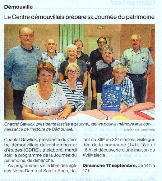 Ouest-France du 6/09/2017