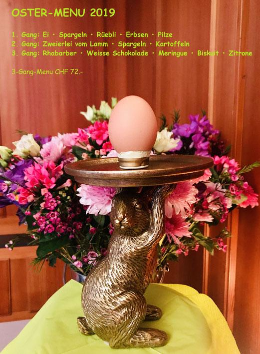 3-gängiges Oster-Menu mit Oster-Lamm