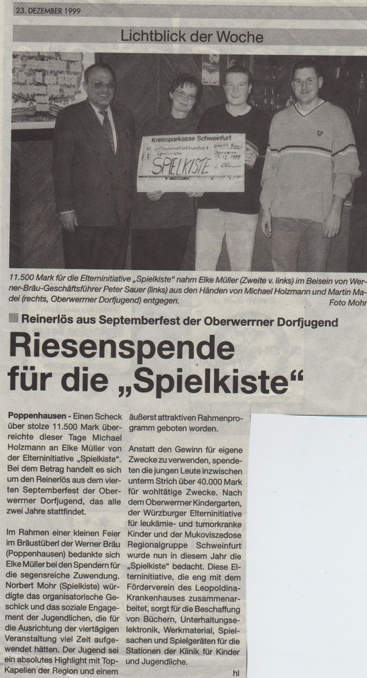 23.12.1999 Schweinfurter Anzeiger