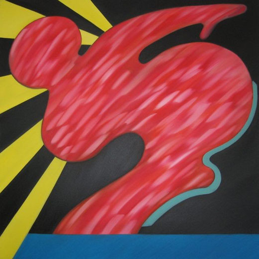SAPRI, Öl auf Leinwand, 100 cm x 100 cm