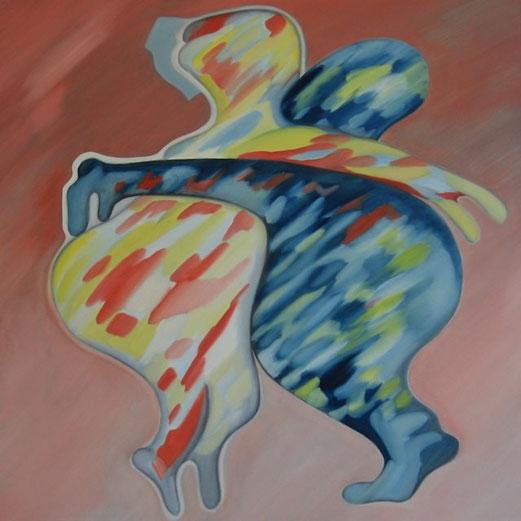 SAPRI, Öl auf Leinwand 90 cm x 90 cm