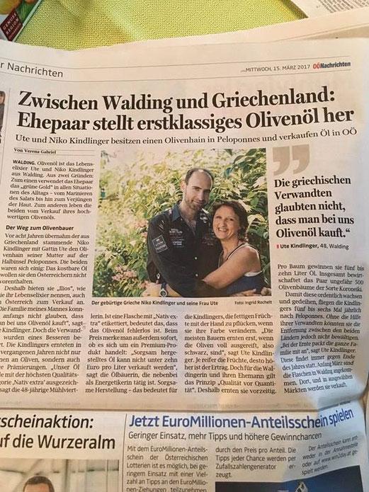 Pressebericht Oberösterreichische Nachrichten